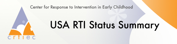 USA RTI Status Summary