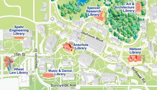 map of ku campus Libraries Why Ku map of ku campus